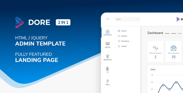 Dore — Html jQuery Admin Template & Landing Page