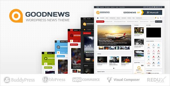 Goodnews v5.9.5 — Responsive WordPress News/Magazine