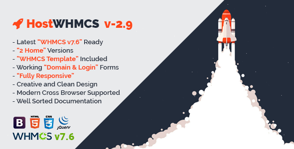 HostWHMCS v2.9 — Responsive Web Hosting with WHMCS Template