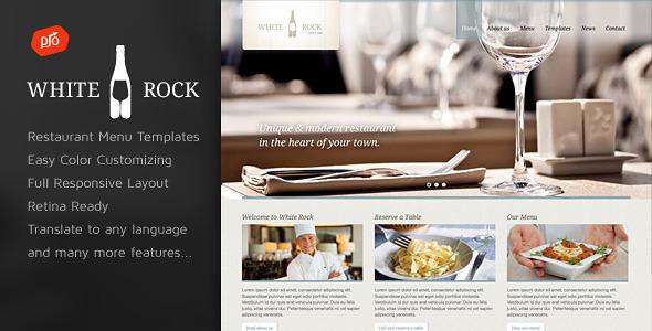 White Rock v3.1 — Restaurant & Winery Theme