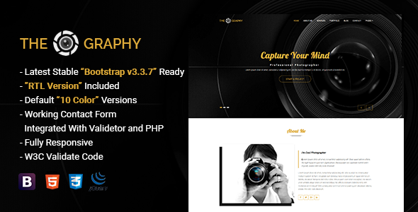 TheGraphy v1.0 — Responsive Creative Photography HTML5 Template