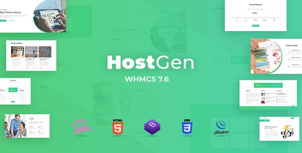 HostGen v1.0 — Multipurpose Hosting Provider HTML5 Template With WHMCS