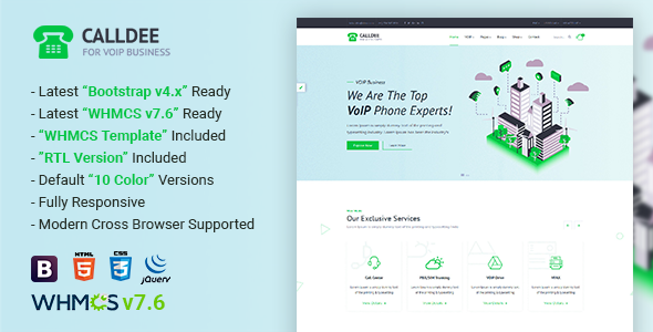 Calldee — Multipurpose VOIP Business Template