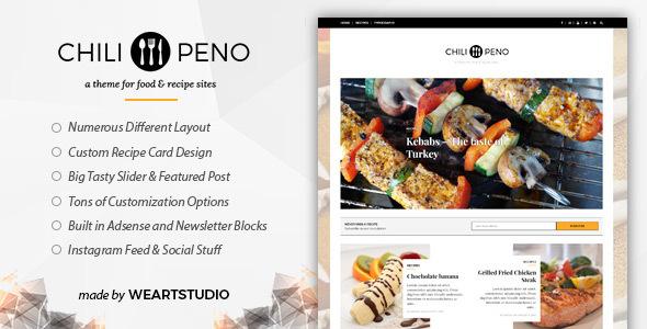 Chilipeno v1.0.1 — Recipe & Food WordPress Theme