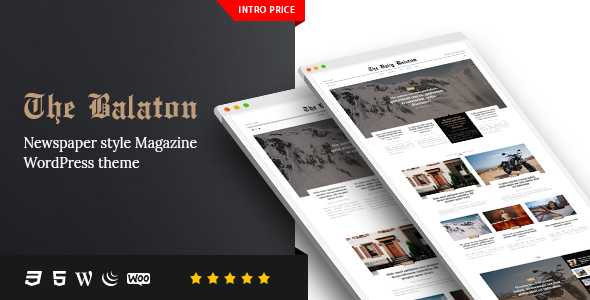Balaton v1.0.8 — Newspaper style Magazine WordPress