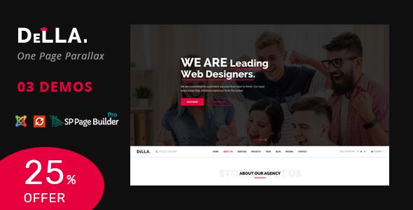 Della v1.0 — One Page Joomla Template for Digital Agency