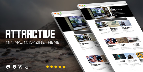 Attractive v1.0 — Minimalist Magazine WordPress Theme