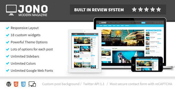 Jono v2.9 — Responsive WordPress Magazine Theme
