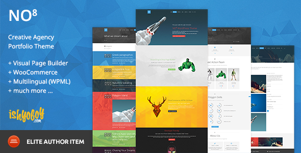 NO8 WP v2.2 — Creative Agency Portfolio Theme