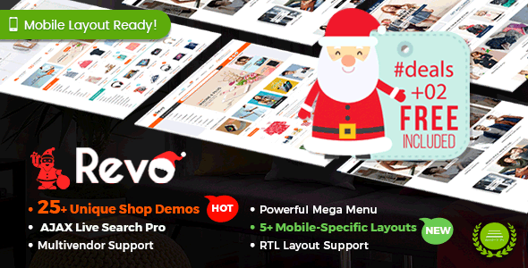 Revo v3.2.0 — Multi-purpose WooCommerce WordPress Theme