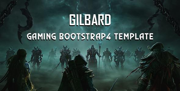 Gilbard — Gaming Bootstrap 4 Template