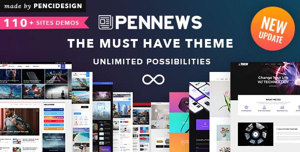 PenNews v6.4 — News/ Magazine/ Business/ Portfolio