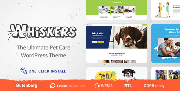 Whiskers v1.0 — Pets Store, Vet Clinic, Animal Adoption