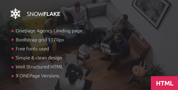 SNOWFLAKE — Onepage Agency HTML Template
