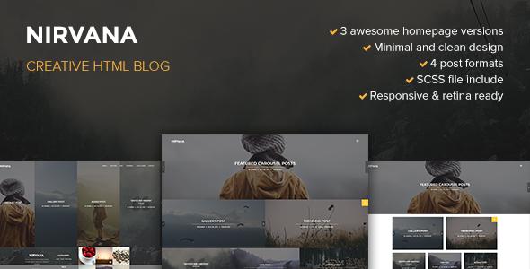 Nirvana — Creative Blog Template