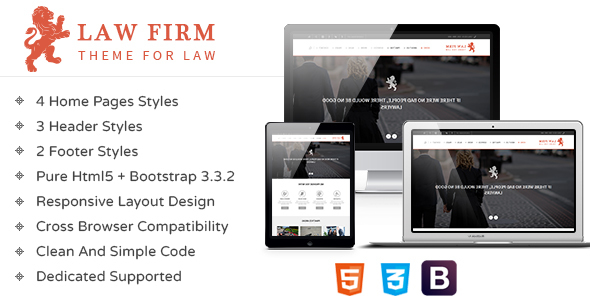 Law Firm — Responsive HTML Template