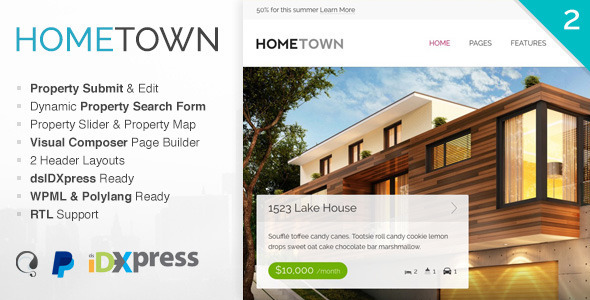 Hometown v2.8.2 — Real Estate WordPress Theme