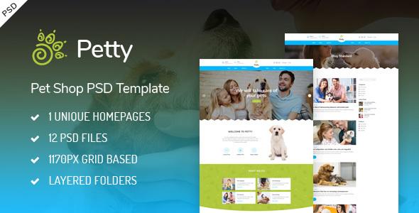 Pet Shop — PSD Template