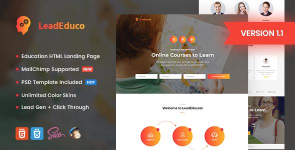 LeadEduco v1.1 — Education HTML Landing Page Template