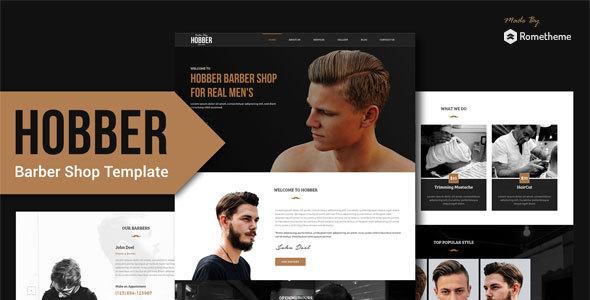 Hobber — Barbershop, Hair & Salon PSD Template