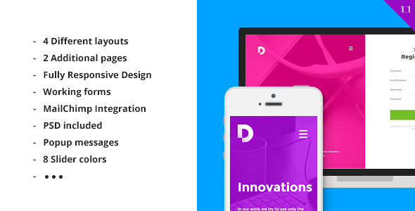 Duos — Multipurpose HTML5 Landing Page