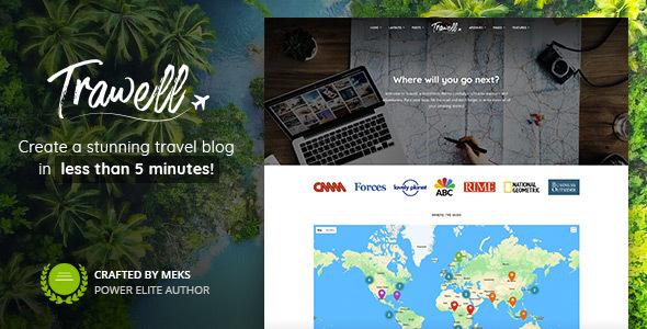 Trawell v1.3 — WordPress travel theme