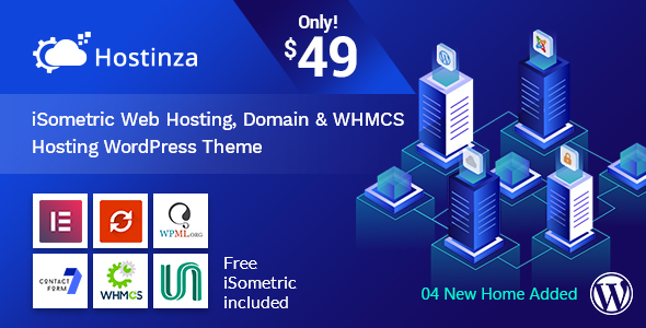 Hostinza v1.0.5 — Isometric Domain & Whmcs Web Hosting