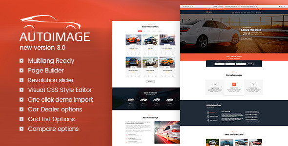 Auto Image v3.3.1 — WordPress Car Dealer theme