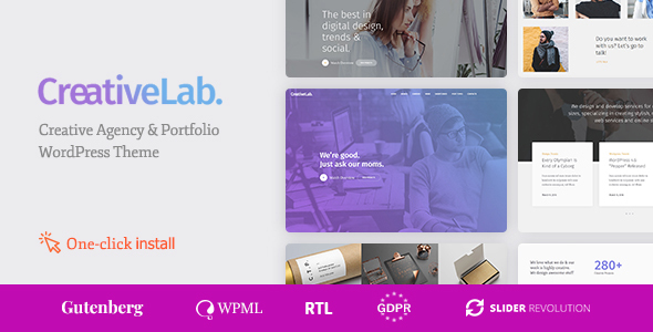 Creative Lab v1.1.0 — Creative Studio Portfolio & Agency