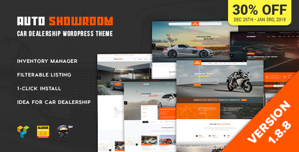 Auto Showroom v1.8.8 — Car Dealership WordPress Theme