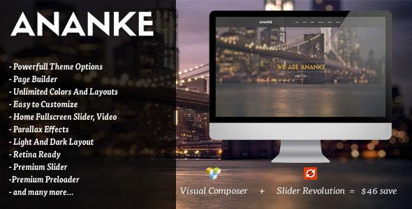 Ananke v3.6.5 — One Page Parallax WordPress Theme