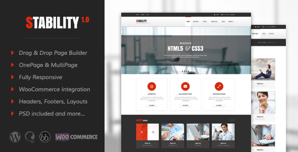 Stability v3.1 — Responsive MultiPurpose WordPress Theme