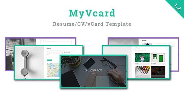 MyVCard v1.2 — Responsive & Creative Resume/CV/vCard Template