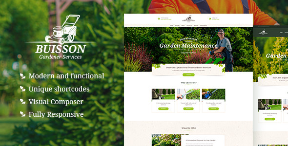 Buisson v1.1 — Gardening WordPress Theme