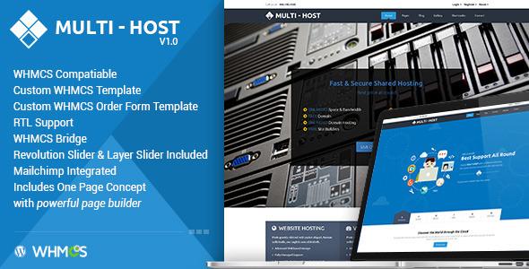 Multi Hosting v1.7 — WHMCS Hosting WordPress Theme