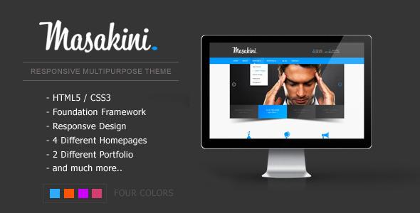 Masakini — Multi-purpose Responsive HTML Template
