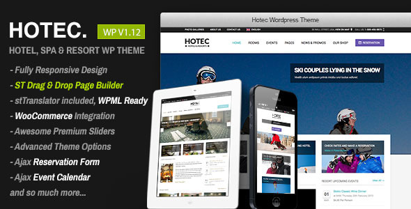 Hotec v2.5 — Responsive Hotel, Spa & Resort WP Theme