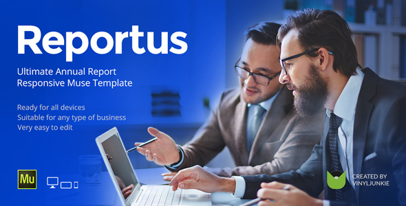 Reportus v1.1 — Annual Report Responsive Muse Template