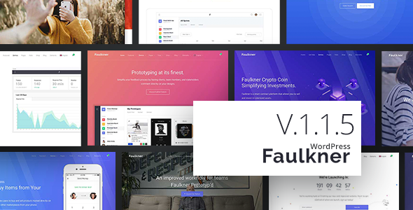 Faulkner v1.1.6 — Responsive Multiuse WordPress Theme