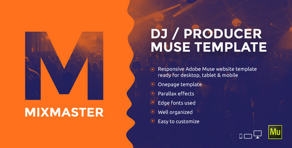 MixMaster — DJ / Producer Website Muse Template