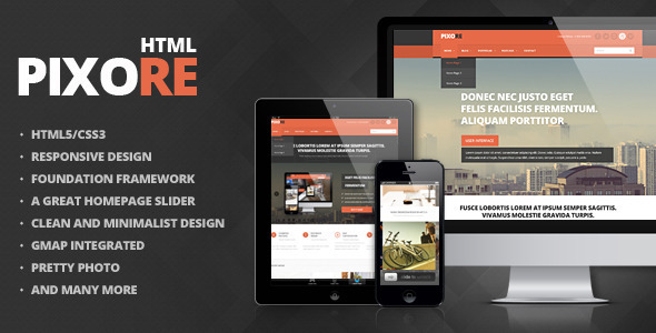 Pixore — Responsive Multi-Purpose HTML5 Template