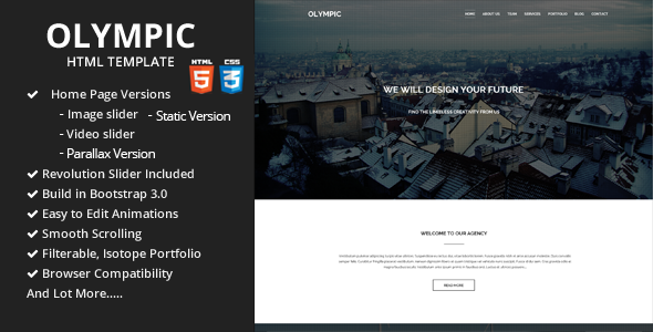 Olympic — One Page Parallax Template
