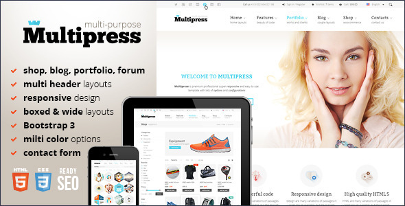 Multipress — Responsive HTML5 Template