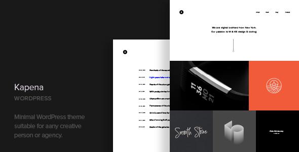 Kapena v1.1 — Minimal Portfolio WordPress Theme
