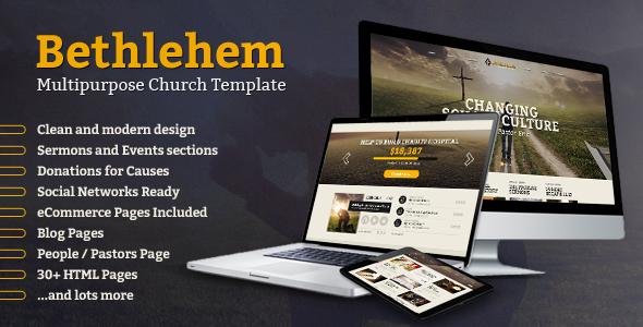 Bethlehem — Church Bootstrap 3 HTML5 Template