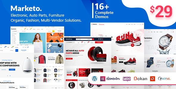 Marketo v1.3.8 — ECommerce & Multivendor Theme