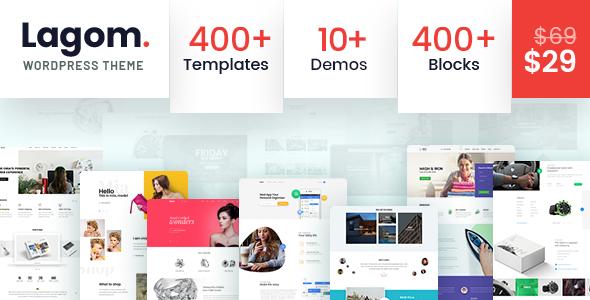 Lagom v1.0.5 — Multi Concept MultiPurpose WordPress Theme