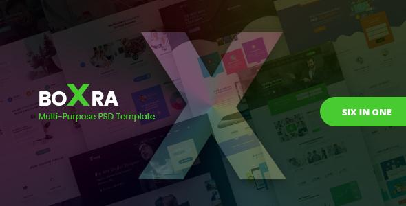 Boxra — Multipurpose PSD Template