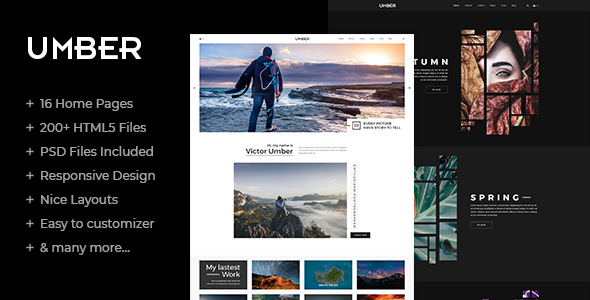 Umber — Photography HTML5 Template