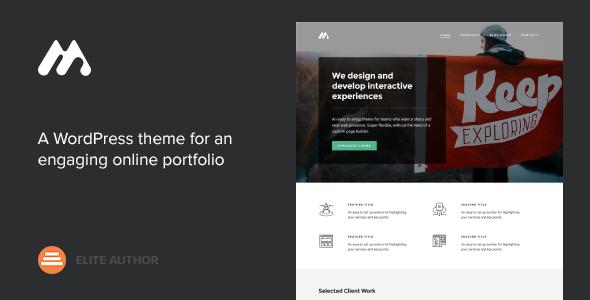 Meth v2.1.2 — A Minimal One Page Portfolio Theme